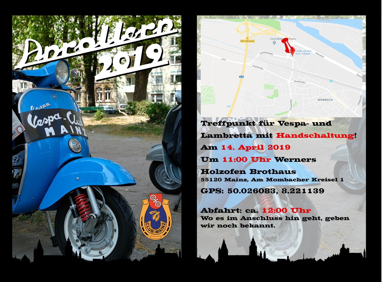 VERSCHOBEN!!! Anrollern 2019 des Vespa-Club Mainz