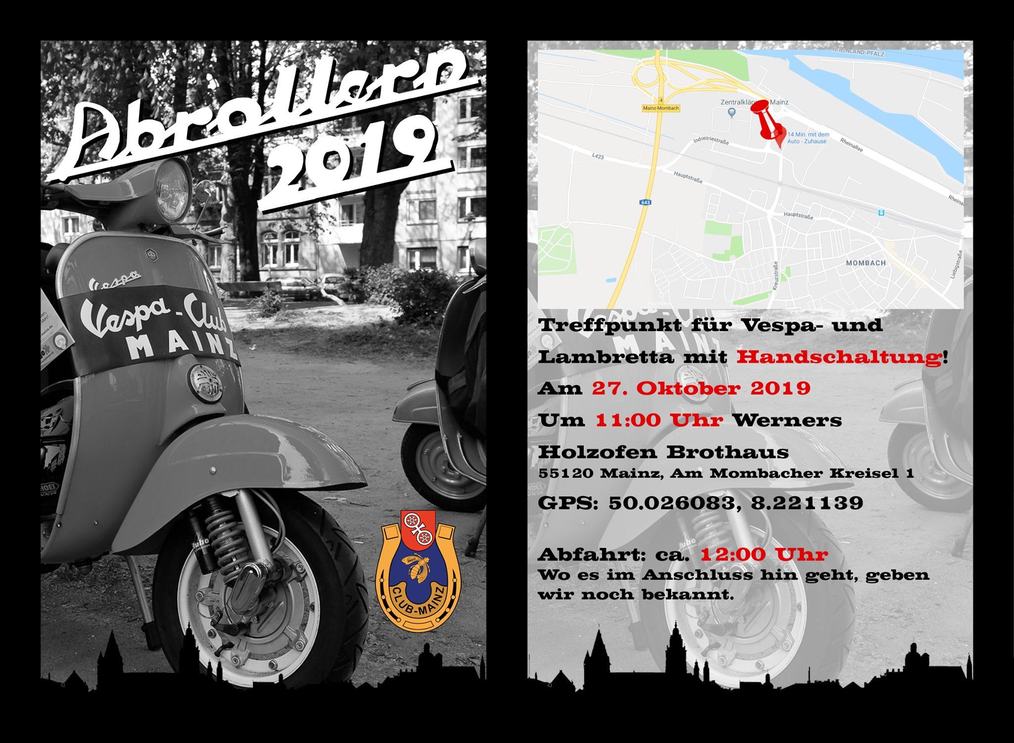 Abrollern 2019 des Vespa-Club Mainz
